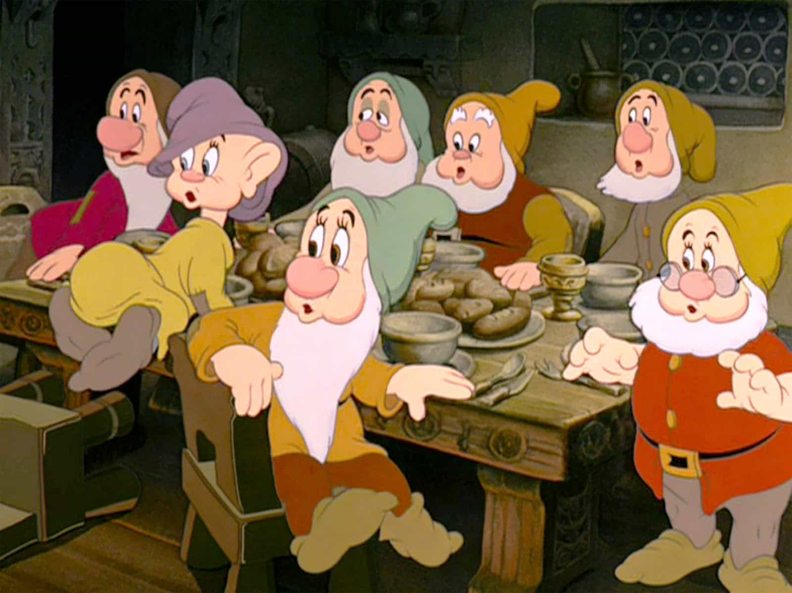 Seven Dwarfs at Table