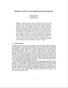 Bitcoin Whitepaper