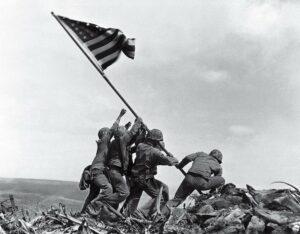 Flag Raising On Iwo Jima, Joe Rosenthal, 1945